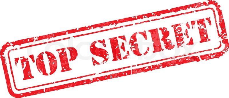 Top Secret Rubber Stamp Stock Vector Colourbox
