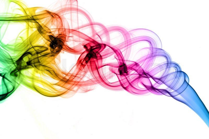 magische farbigen rauch formen stockfoto colourbox