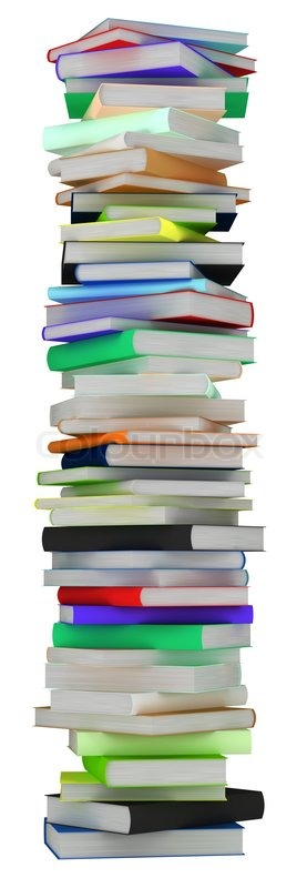 education and knowledge tall heap of hardcovered books stock photo