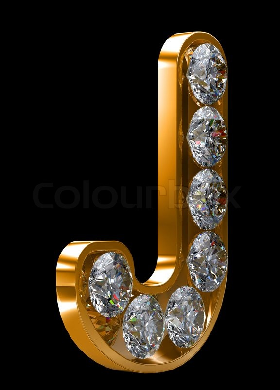golden j letter incrusted with diamonds stock image colourbox golden j letter incrusted with diamonds