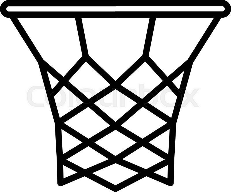 Basketball Basket Icon Outline Stock Vector Colourbox Hitta de bästa kostnadsfria bilderna med basketball outline. basketball basket icon outline
