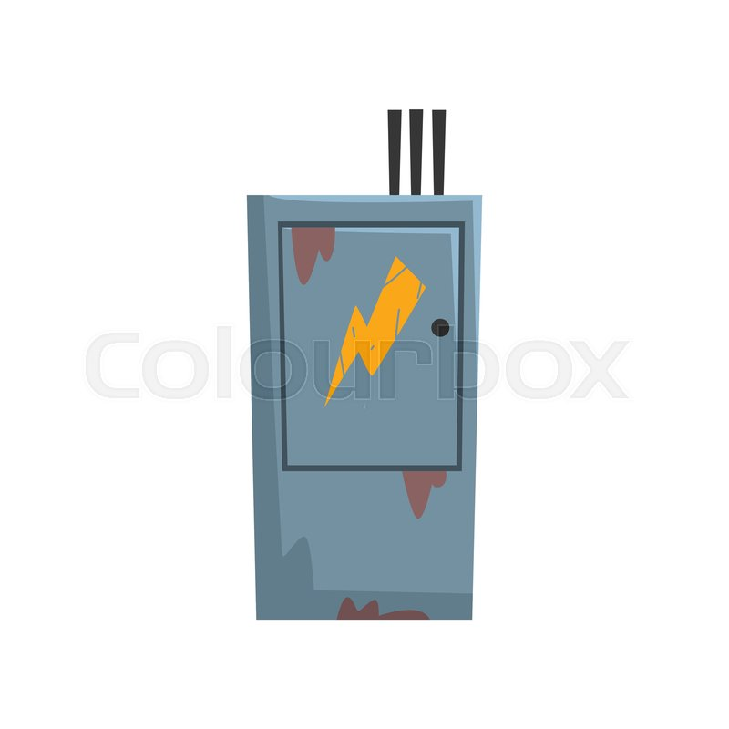 Electric Breaker Fuse Box, , ... | Stock vector | ColourboxColourbox