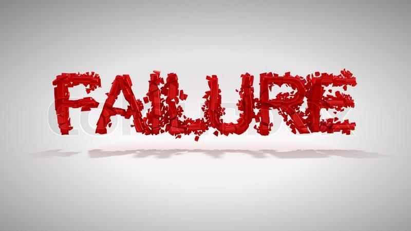 Red Failure word destruction | Stock Photo | Colourbox