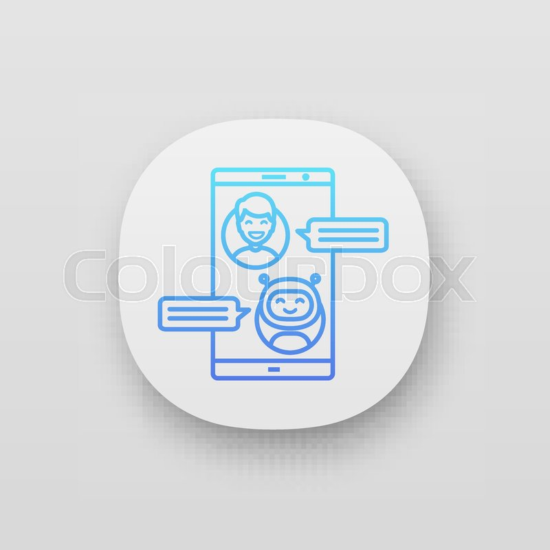 Support chatbot app icon  UI/UX user     | Stock vector | Colourbox