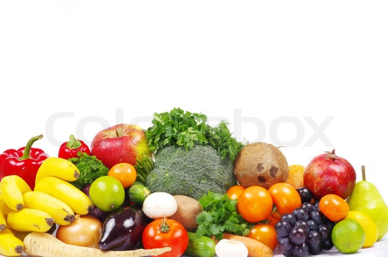 Stock image of 'Vegetables and fruits'