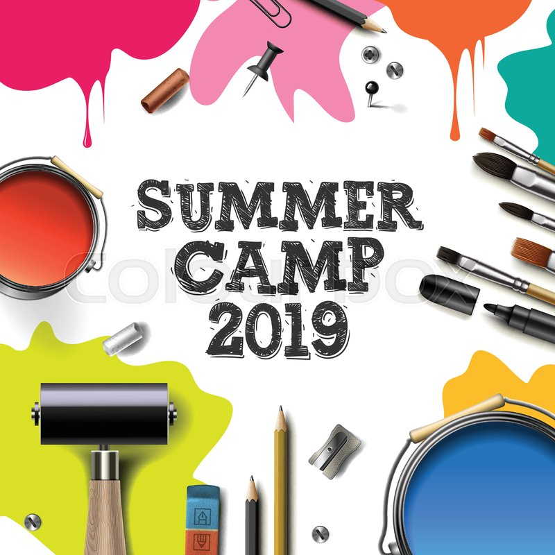 Kids Summer Camp 2019 Education Stock Vector Colourbox