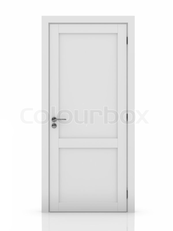 Stock image of \u0027White door\u0027  sc 1 st  Colourbox & White door | Stock Photo | Colourbox
