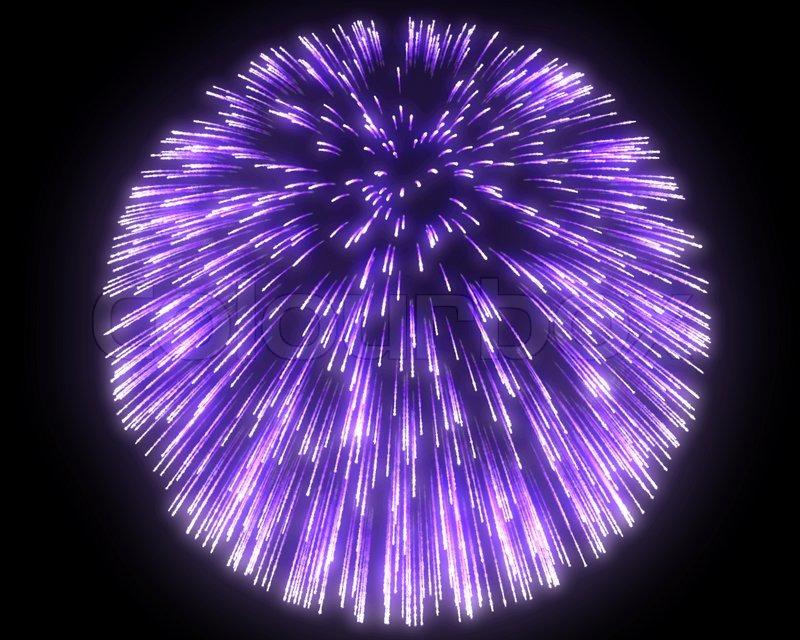 Festive Purple Fireworks At Night Stock Image Colourbox