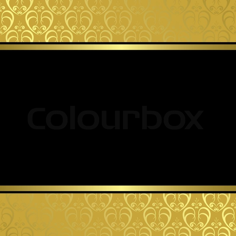 quotblack and gold vintage cardquot stock photo colourbox