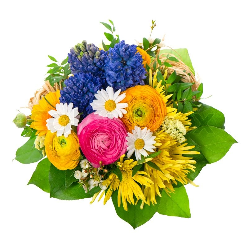 Beautiful Bouquet Of Colorful Spring Stock Photo Colourbox