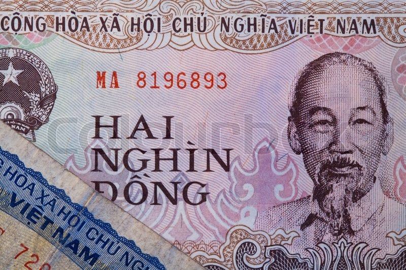 Stock image of 'Banknotes - Dong bills of Vietnam'