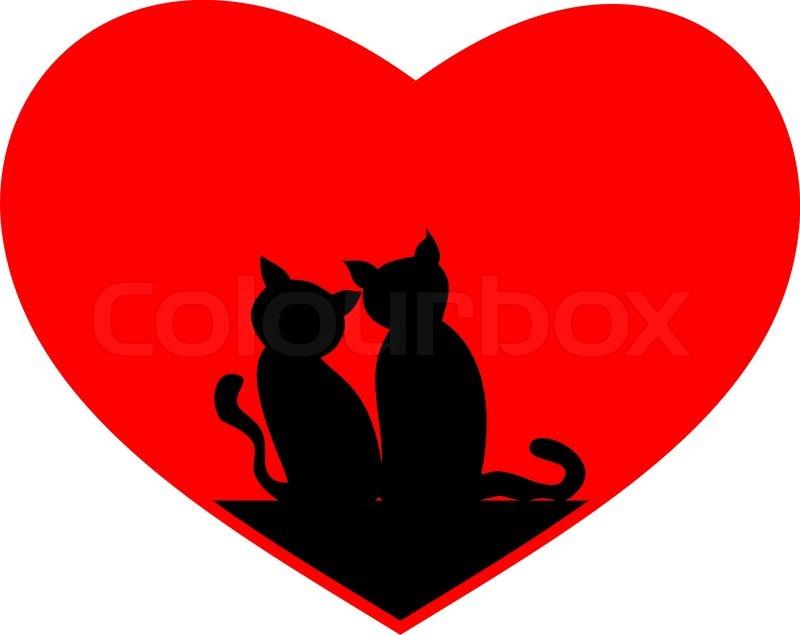 cat heart clipart - photo #23