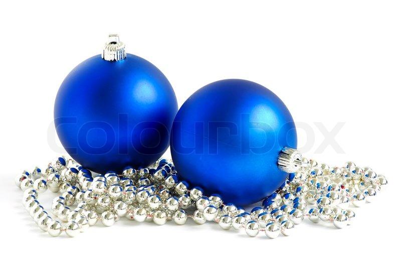 blue christmas balls stock photo colourbox - Blue Christmas Balls