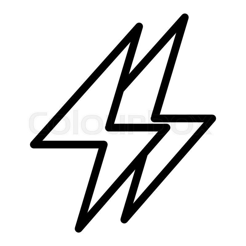 Energy Line Icon Electricity Stock Vector Colourbox
