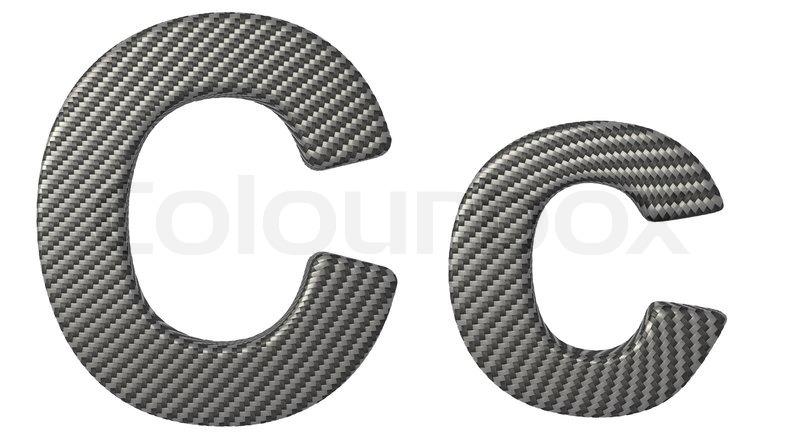 Kohlefaser Schriften C Kleinbuchstaben Stockfoto Colourbox