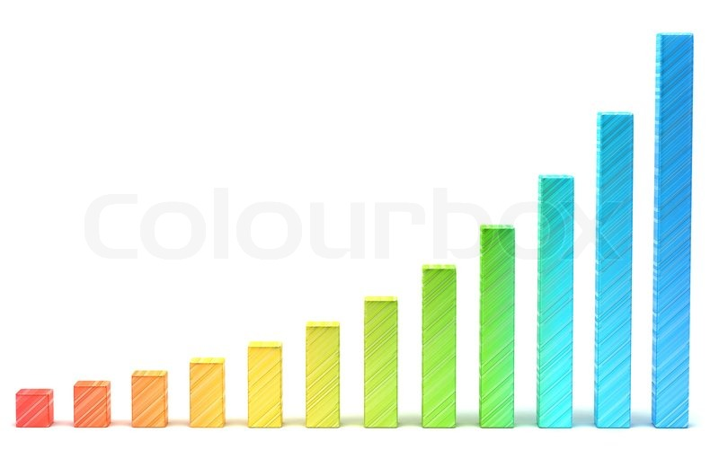 Statistics And Analysis Gradient Diagram Or Chart Stock Photo