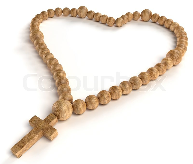Religious life and love: wooden chaplet or rosary beads | Stock ...