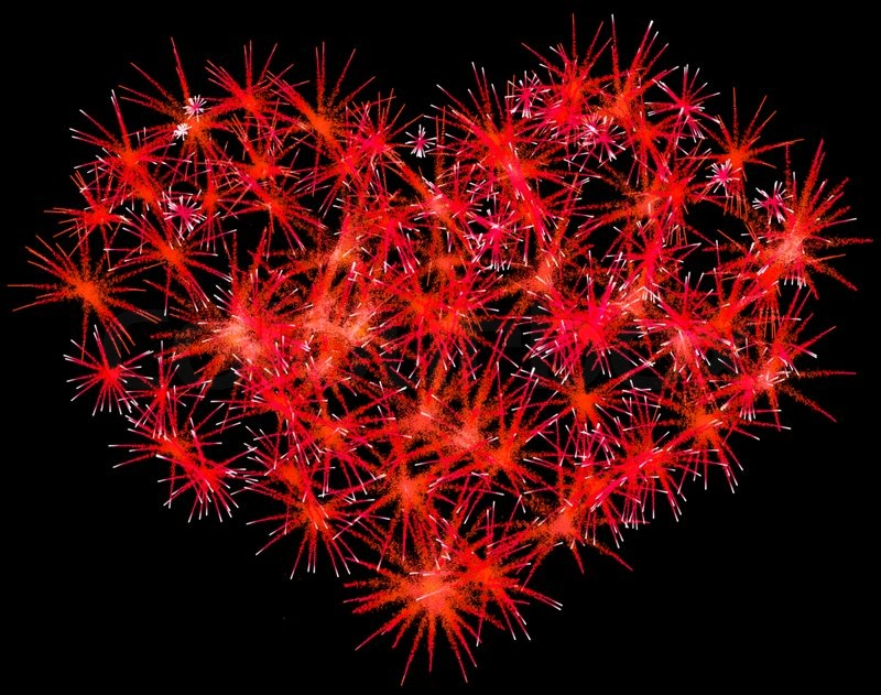 how to draw a heart on fireworks