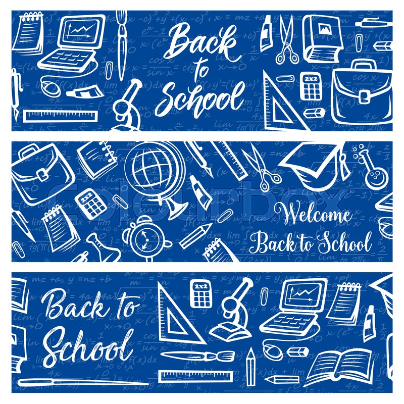 Back To School Education And Study Stock Vector Colourbox
