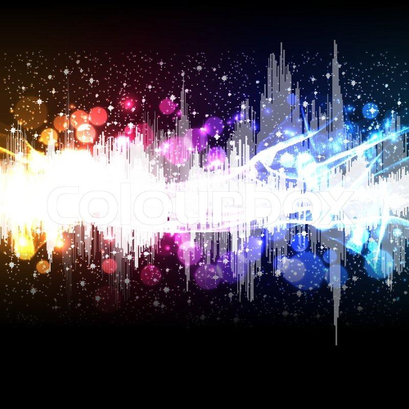 Waveform music background | Stock vector | Colourbox