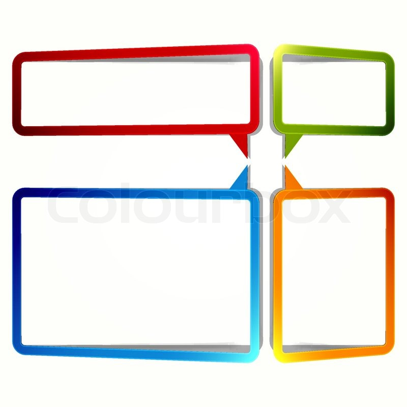 Bright rectangular stickers in the form of an empty frame for your text vector