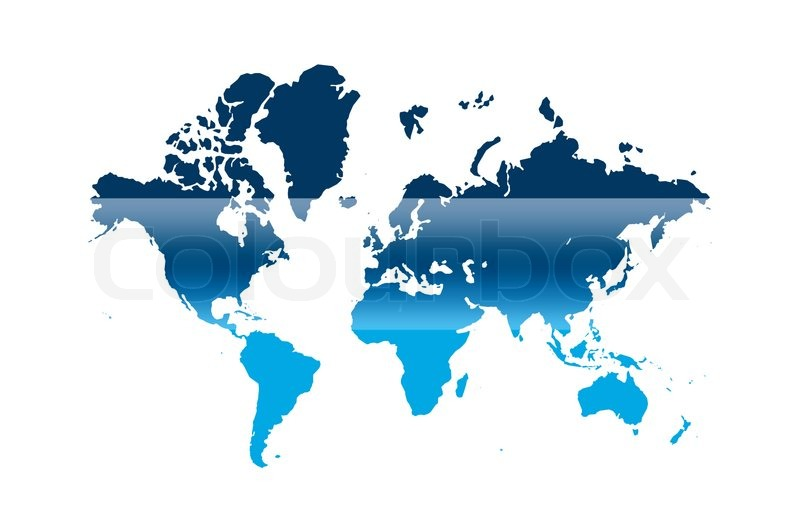Blue and white illustrated world map with white background stock blue and white illustrated world map with white background stock photo colourbox gumiabroncs Gallery