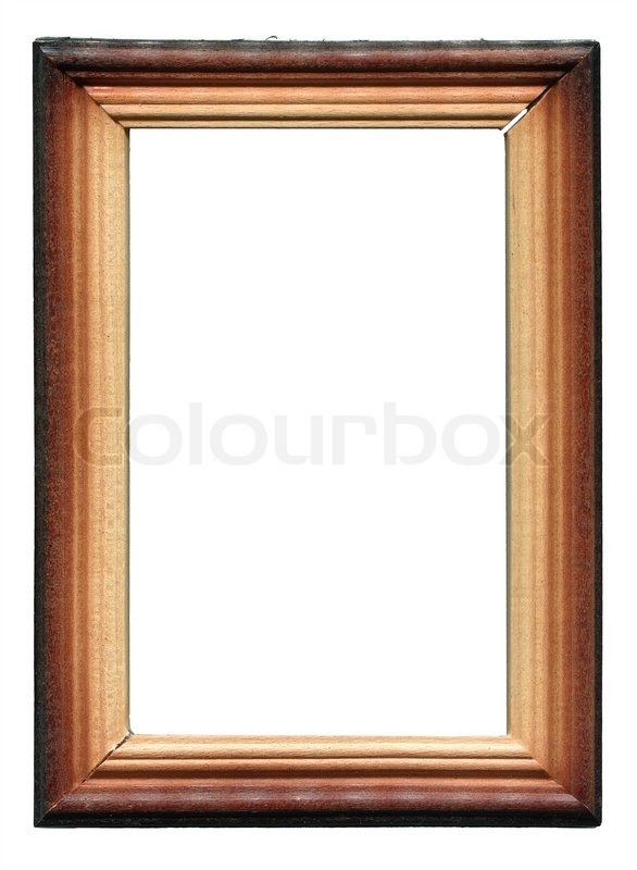Wooden frame on white background | Stock Photo | Colourbox