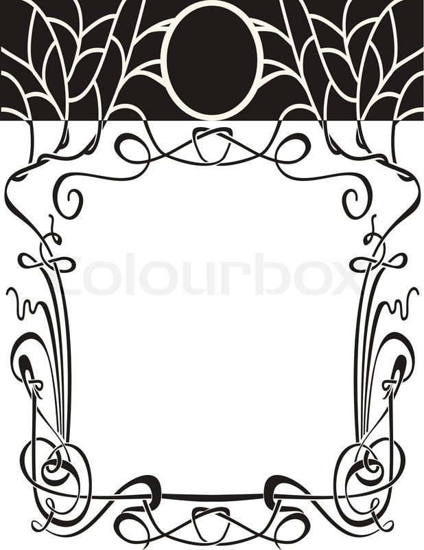 Jugendstil rahmen vektorgrafik colourbox for Ornamente jugendstil