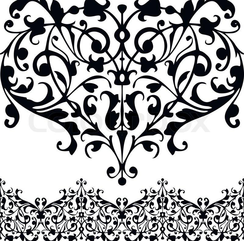 decorative floral elements stock vector colourbox
