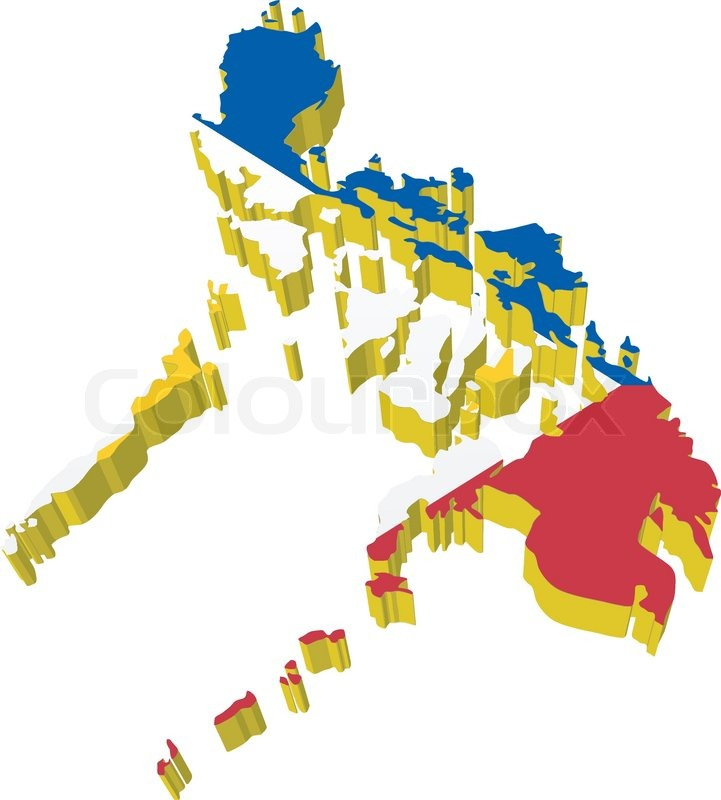 Map Of The Philippines 3D Vectors 3D map of Philippines | Stock vector | Colourbox