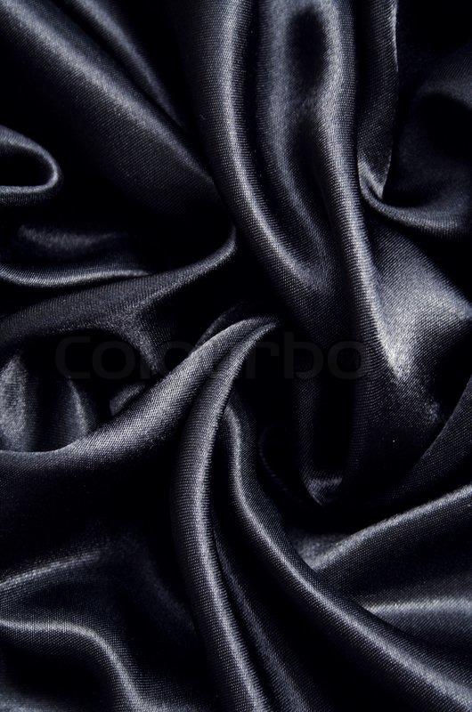 smooth elegant black silk - photo #6