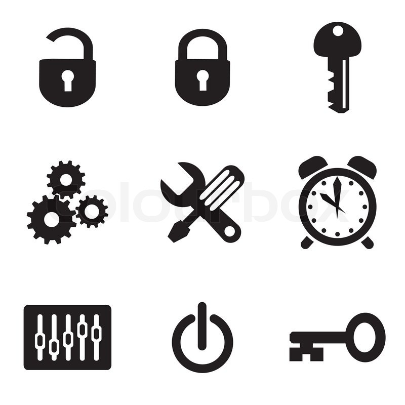 Desktop Icon Set Set Vector Computer Icons of