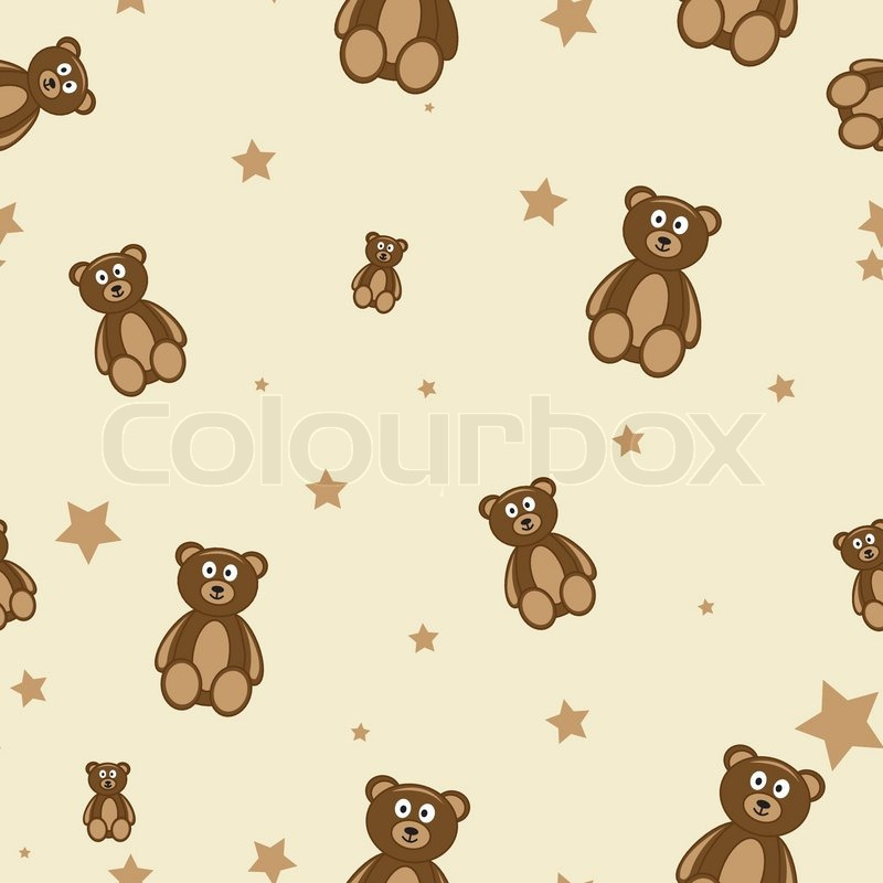 Teddy Bears Seamless Pattern Stock Vector Colourbox