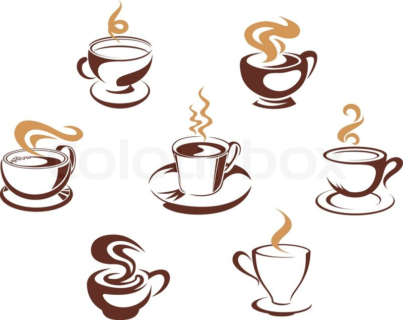 Coffee and tea cups stock vector