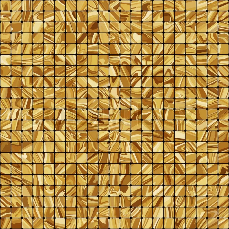 Gold Mosaic Background Eps 8 Stock Vector Colourbox
