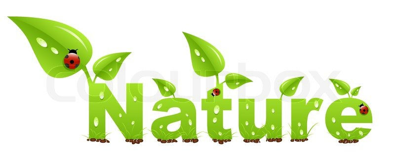 Nature Word Stock Vector Colourbox