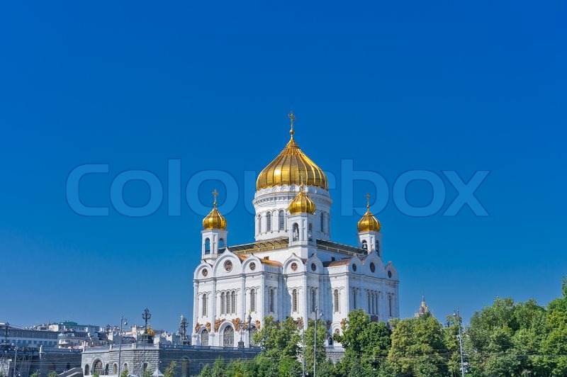Stock image of 'Cathedral of Christ the Savior in Moscow, Russia, Europe'