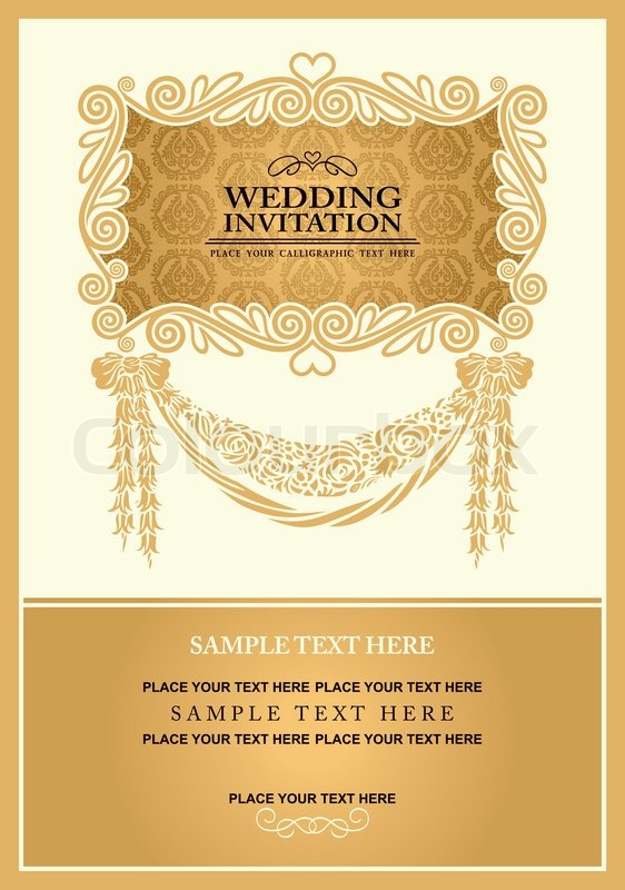 Wedding invitation card abstract background vintage frame and stock vector of wedding invitation card abstract background vintage frame and banner stopboris Gallery