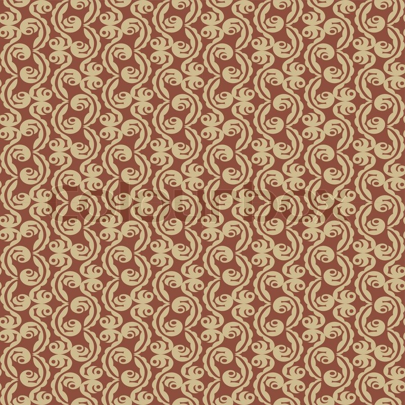 Abstract Flower Background With Decoration Elements For: Abstract Backgrounds, Floral Ornament, Vintage Seamless