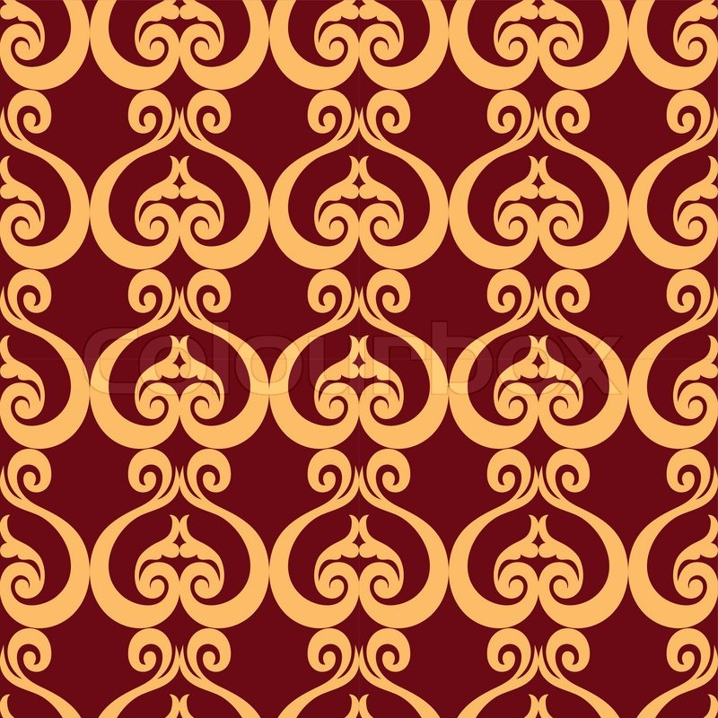 Abstract backgrounds damask ornament classic seamless for Arabesque style decoration