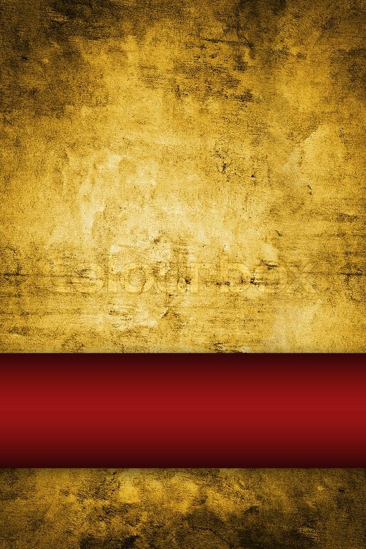 Gold Background With Rich Red Ribbon Stock Photo Colourbox
