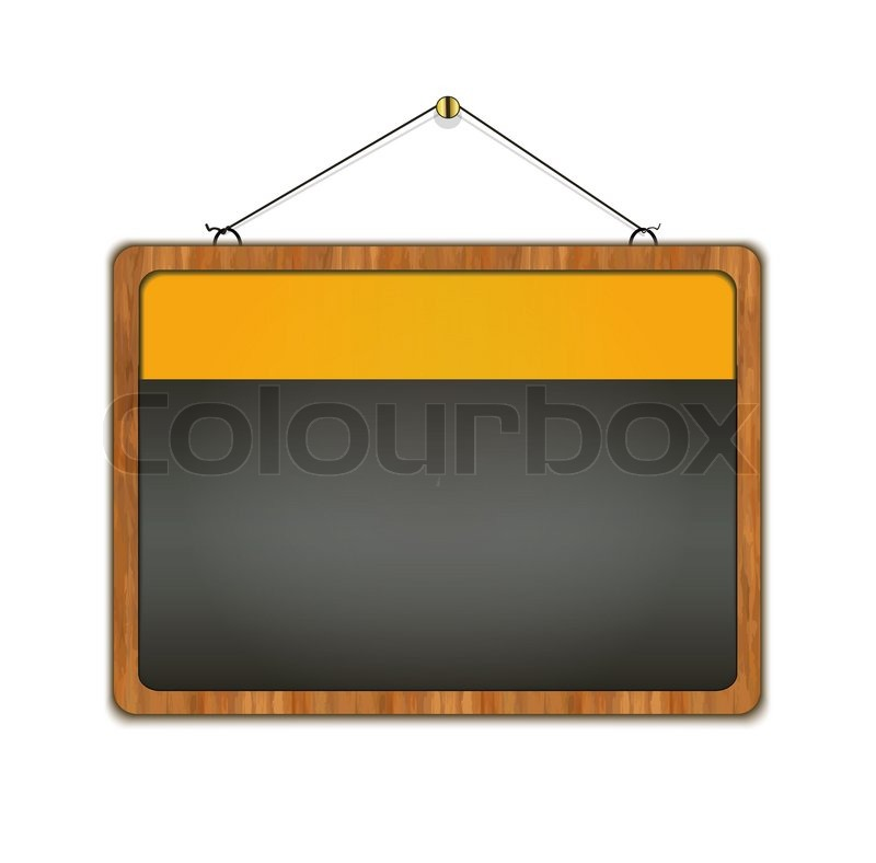 Tafel holzrahmen men restaurant gelbe stockfoto for Gelbe tafel