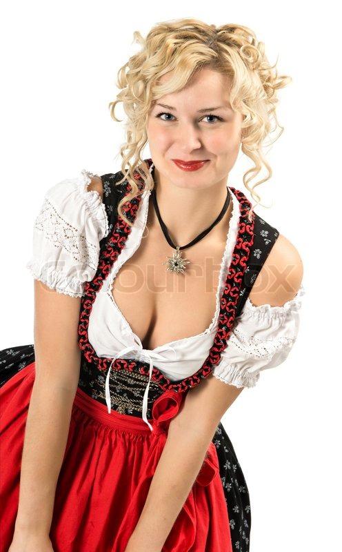 German Girl In Typical Oktoberfest   Stock Image -2110