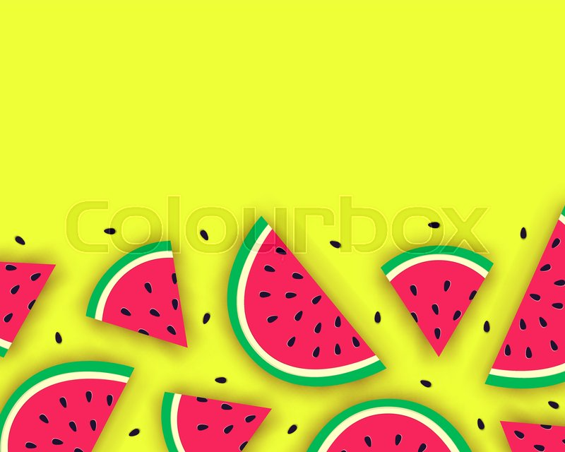 Vector Summer Background With Juicy Stock Vector Colourbox