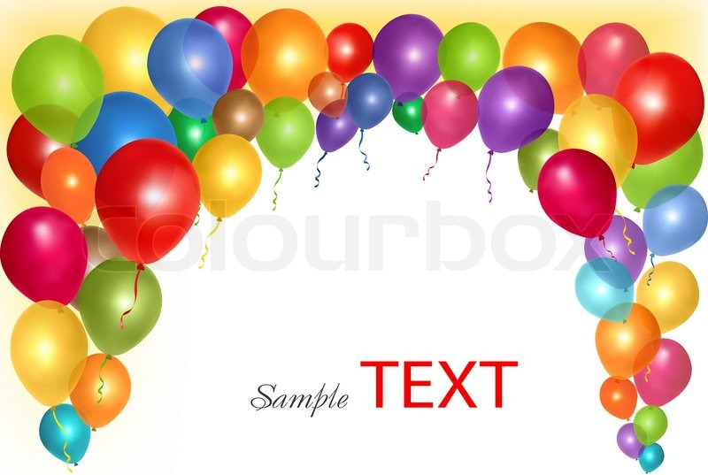 Holiday frame with colorful balloons ... | Stock vector ...