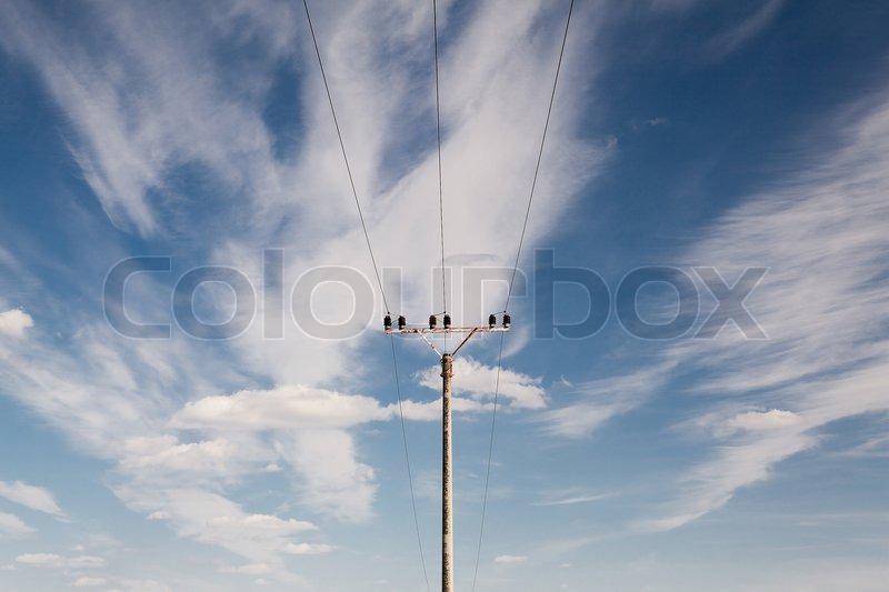 Electrical energy, stock photo