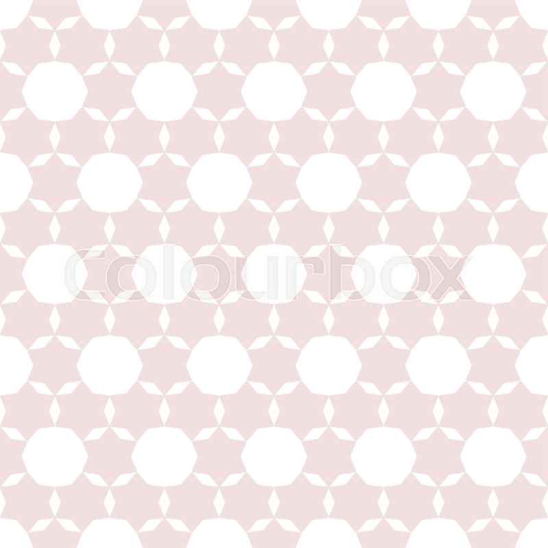 Subtle Geometric Seamless Pattern Stock Vector