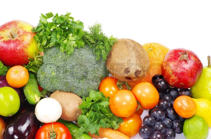 Stock image of 'Fruits and vegetables'