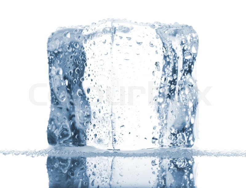 watch offer discounts the latest Single ice cube with water drops | Stock image | Colourbox