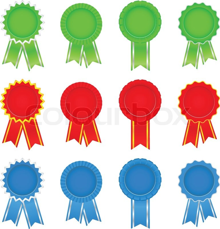 vector award ribbons stock vector colourbox